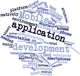 Word cloud for Mobile application development