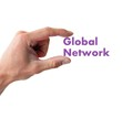 hand holding the word global network