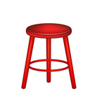 Retro wooden stool