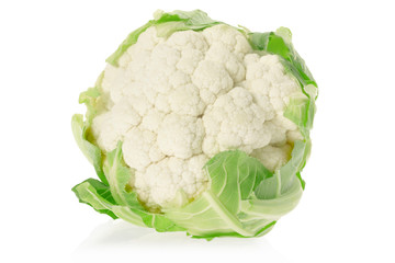 Cauliflower on white, clipping path included