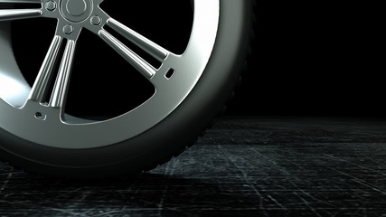 simple rim in rotation as background