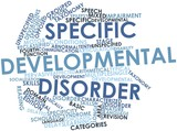 Word cloud for Specific developmental disorder poster