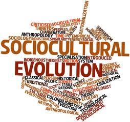 Word cloud for Sociocultural evolution