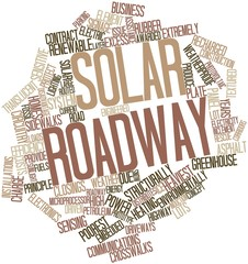 Word cloud for Solar roadway