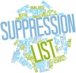 Word cloud for Suppression list