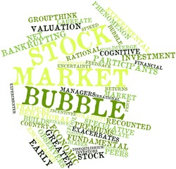 Word cloud for Stock market bubble