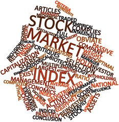 Word cloud for Stock market index