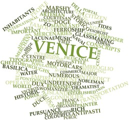 Word cloud for Venice