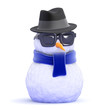 Snowman is looking pretty cool in his trilby