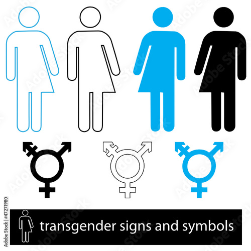 A set of transgender icons for web or print