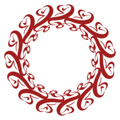 Rosette Ornament with Lace Patterns
