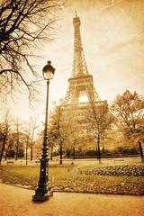 nostalgisches Bild des Eiffelturmes