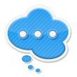 Abstract speech bubble icon
