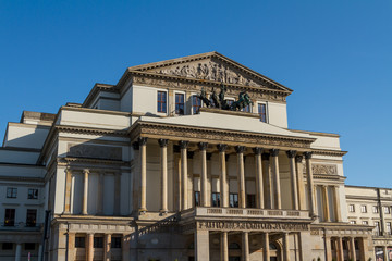 Warsaw, Poland - National Opera House and National Theatre build