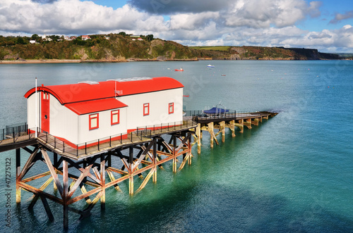 View of a converted lifeboat station, Tenby.