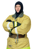 Firefighter in balaclava