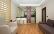 Open style kitchen and living room