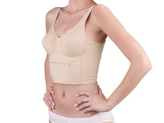 bra which has a pocket with zipper for keeping something