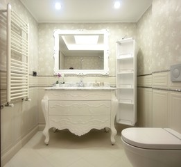 Stylish white bathroom