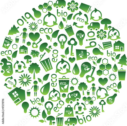 range of eco icons