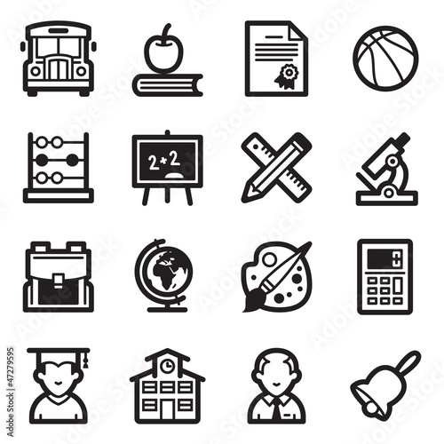 Education Icons Set 1 - Simpla Series
