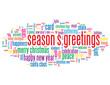 """SEASON'S GREETINGS"" Tag Cloud (merry christmas happy new year)"