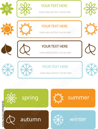 colorful vector four seasons symbols
