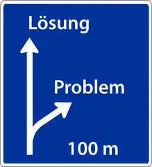 wegweiser lösung problem