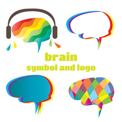 brain. symbol and logo