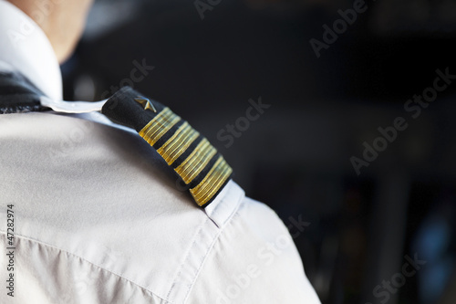 Leinwanddruck Bild Shoulder Golden Pilot Badge