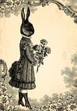 Obraz na płótnie L'enfant lapin