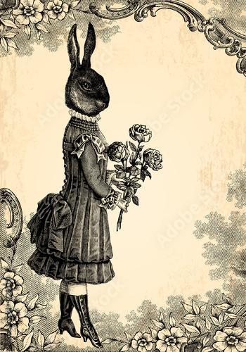 Fototapeta L'enfant lapin