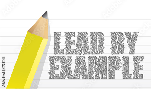lead by example message