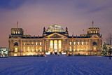 Fototapety berlin reichstag christmas snow