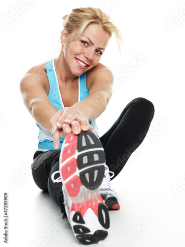 Atletic woman exercising