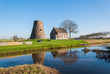 Historic capless windmill in the Netherlands