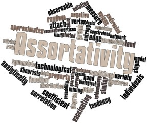 Word cloud for Assortativity
