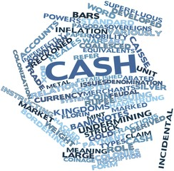 Word cloud for Cash