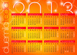 bright orange abstract modern background calendar 2013