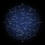 Carte du ciel -  version française et anglaise