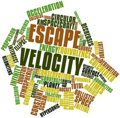 Word cloud for Escape velocity