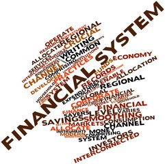 Word cloud for Financial system