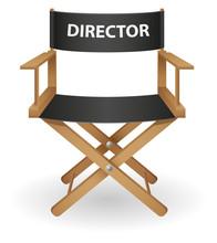 Directeur film illustration vectorielle de chaise
