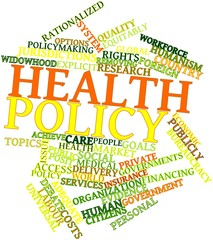 Word cloud for Health policy
