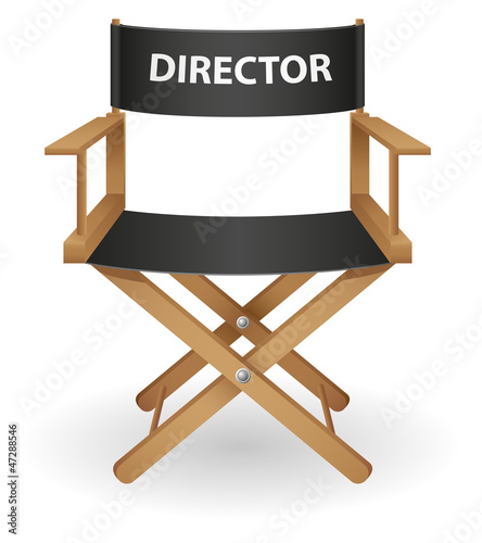 director movie chair vector illustration