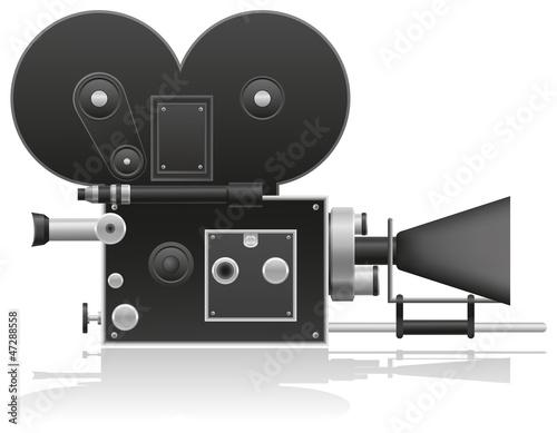old movie camera vector illustration