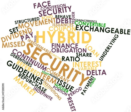 Word cloud for Hybrid security