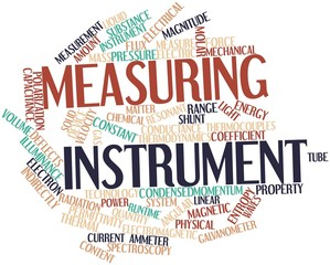 Word cloud for Measuring instrument