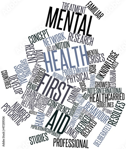 Word cloud for Mental health first aid