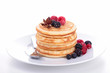pancake with berries fruits